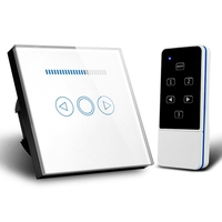 EU Standard Switch Wall Touch Switch Crystal Termpered Glass Panel Smart Remote Dimmer Smart Home Electronics