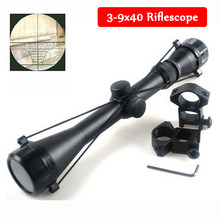 Taktis 3-9x40 Berburu Riflescope Sniper Militer Mil Dot Senapan Angin Gun Sight Taktis dengan 11 Mm/20 Mm Rail gunung(China)