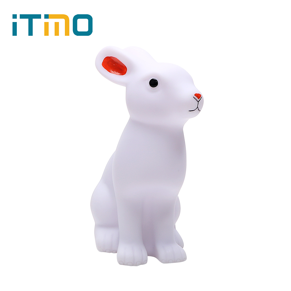 ITimo  Rabbit LED Night Light Table Lamp Animal Nightlight Battery Operated Cute Novelty Lighting For Kids Children
