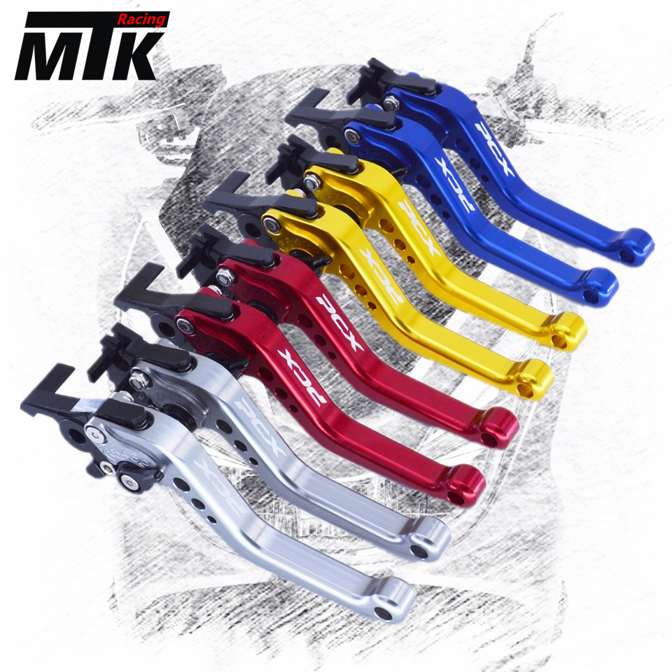 MTKRACING For Honda PCX 125/150 all years CNC Short Brake Clutch Levers motorcycle short long brake clutch levers for honda cbr1100xx 97 08 vfr800fi 98 01 st1300 a 03 07 motorcycle adjustable cnc aluminum