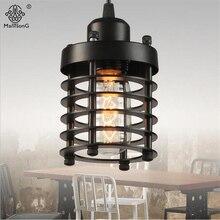 Demir Sanayi Vintage Kolye Lambaları Fuaye Koridor Restoran Için Yaratıcı Asılı Aydınlatma Armatürleri E27 Ev Kolye Işık