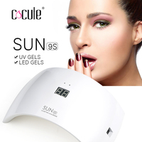 SUNUV SUN9S 24W Nail Dryer Professional Tool LED / UV Nail Gel Art Lamp LCD display With 15 LEDs USB Charging Cable Manicure