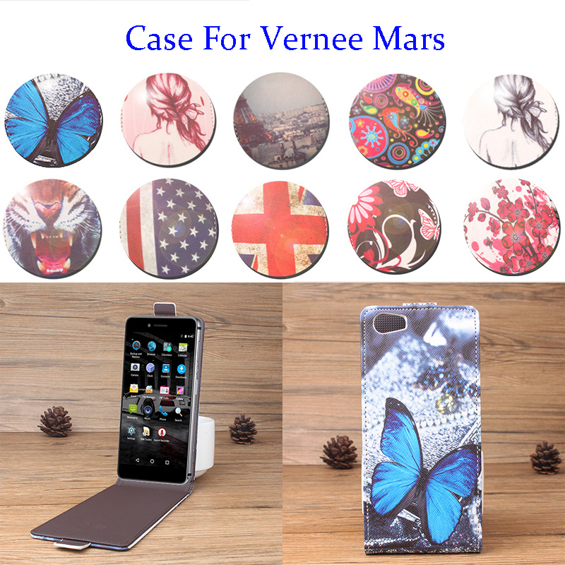 5.5Inch Up Down Painted Luxury For Vernee Mars Case PU Leather Case Flip Case For Vernee Mars Phone Cover In Stock Full Tracking
