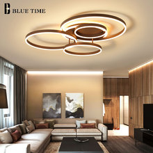 Surface Mounted Modern Led Ceiling Light For Living room Bedroom Dining room White&Coffee Lustre Chandelier Ceiling Lamp Fixture lukloy crystal modern led ceiling lamp lustre led ceiling light for bar living room bedroom kitchen lighting fixture dining room