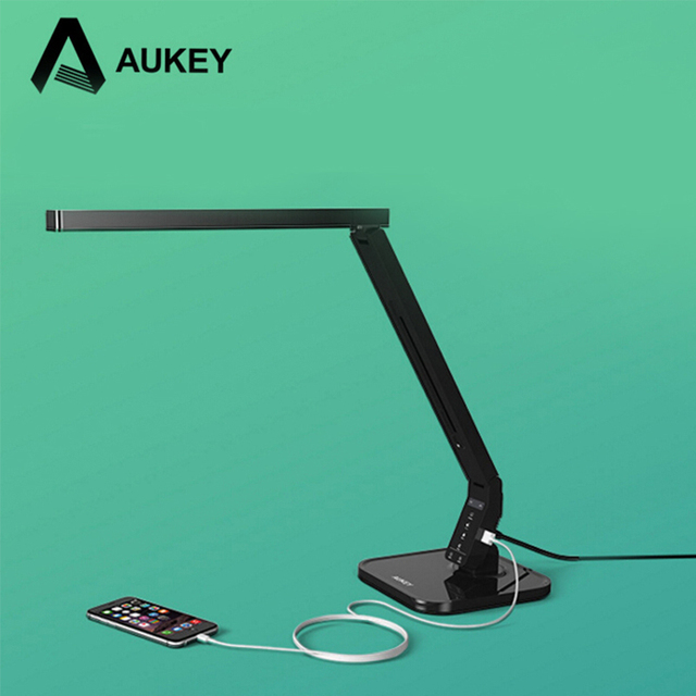 Aukey lt t1 led desk lamp with usb charger for protect child shield an eye