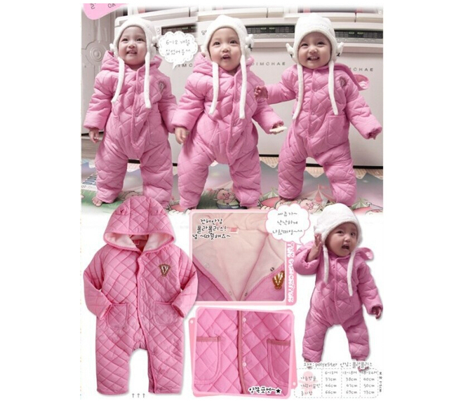new 2016,winter clothing,baby warm romper,kids clothes set,newborn,baby girl boy clothes,baby bodysuits,winter overall