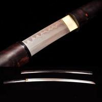 Boutique Japan samurai Sword Katana Clay Tempered Pattern Steel High grade Ebony Sheath