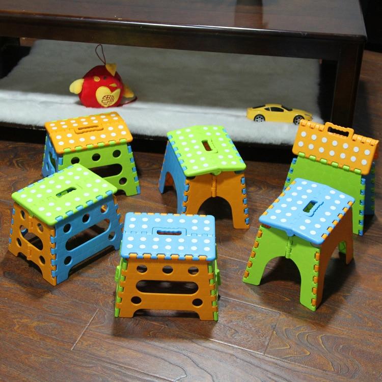 Plastic Folding Stool Bathroom Non-slip Stool Gift Kids Furniture Plastic Chairs Lovely