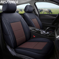 AUSFTORER Custom Genuine Leather Covers Seat for Peugeot 607 Cars Seat Covers Supports Cowhide Front & Rear Cushion Accessories