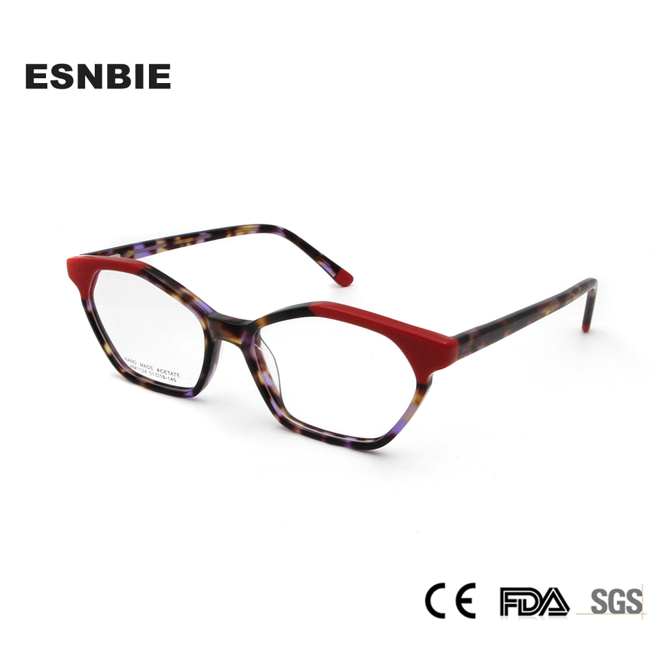 d8beae74050e ESNBIE Acetate Designers Stylish Eyeglasses Frame Myopia Glasses Women  Fashion Full Rim Optical Eyewear Frames Female Spring