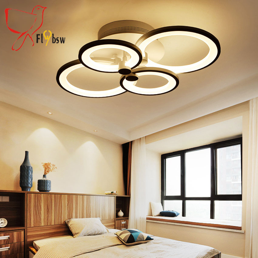 Remote Control Modern Led Ceiling Lights For Living Room Bedroom Hallway Acrylic Aluminum Body Lamp Dimmer Home Lighting Fixture In From