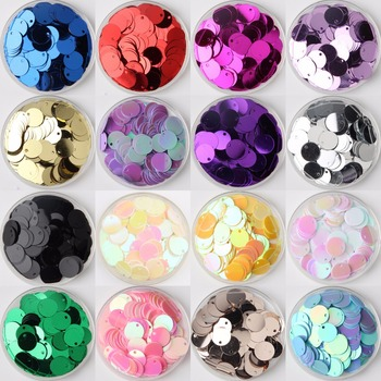 New PVC Flat Round Loose Sequins Paillettes Sewing Craft DIY Accessories for Garment Lentejuelas Para Coser