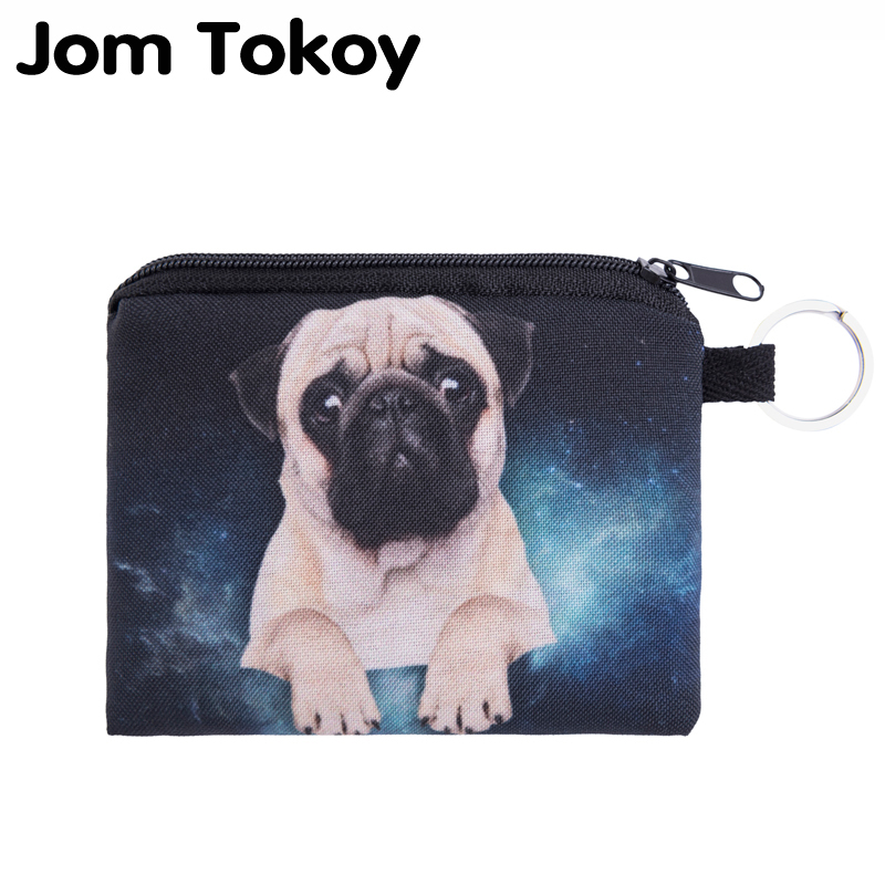 Jom Tokoy pug galaxy Mini Wallet 2017 Fashion Prints Women Purse Holder Small Zipper Coin Purse Female Money Bags flamingo beach mini square wallet 2017 who cares fashion prints women purse holder small zipper coin purse female money bags