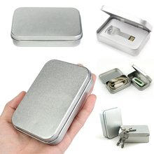 JX-LCLYL 10pcs Silver Metal Tin Storage Box Case Money Coin