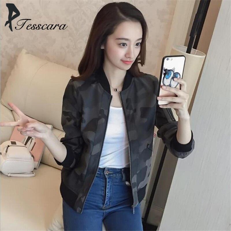 ebdb5fdda5d88 Women Pu Army Green Camo Leather Jacket Coat Ladies 2018 Autumn Fashion  Camouflage Zipper Casual Outwear High Quality Coats
