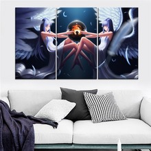 Ys Ancient Ys Vanished Anime Girl Painting 3 Piece Modular Style Picture Canvas Print Type Home Decorative Wall Artwork Poster
