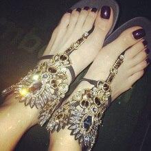 Genuine leather 2016 women's shoes flat heel rhinestone sandals pinch flat flip-flop slippers