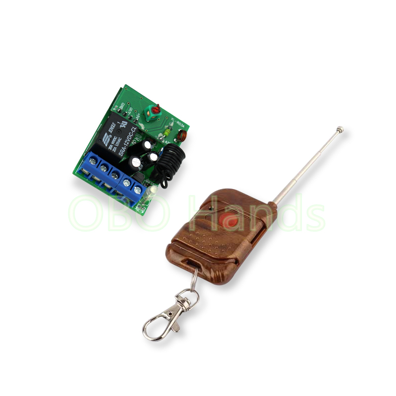 DC12V 315/433MHz wireless remote control 1CH relay receiver module and RF transmitter for door lock up to 50m-TM31
