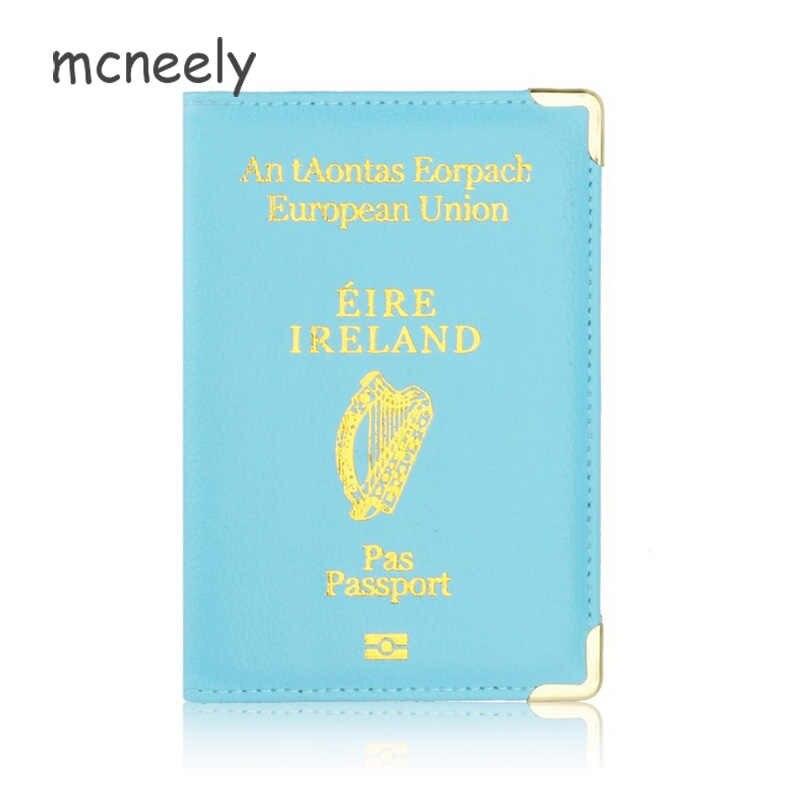 Ierland Paspoort Leer Case Voor Passport Bescherming Case Leuke Vrouwen Reisdocument Organisator Voor Reizen Portemonnee