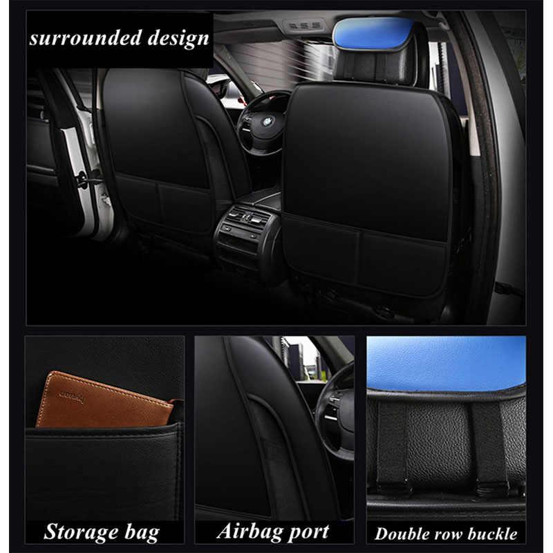 Передняя + задняя крышка сиденья автомобиля набор кожаный для Volkswagen Passat golf polo вариант C-TREK SPORTSVAN Lamando PHIDEON Vista GOL Sagitar