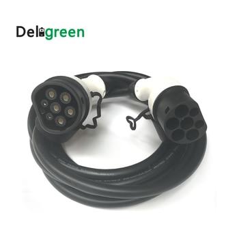 Deligreen 16A Тип 2 Тип 2 вилки ev кабель для зарядки с 5 м TUV/UL кабели однофазный трехфазный Уровень 2