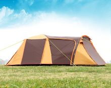 High quality double layer 3-4person use ultralarge with extend hall camping tent