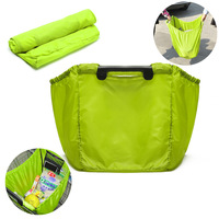 High Quality Reusable Folding Shopping Cart Trolley Grocery Bag Clip To Cart Tote Grab Bag