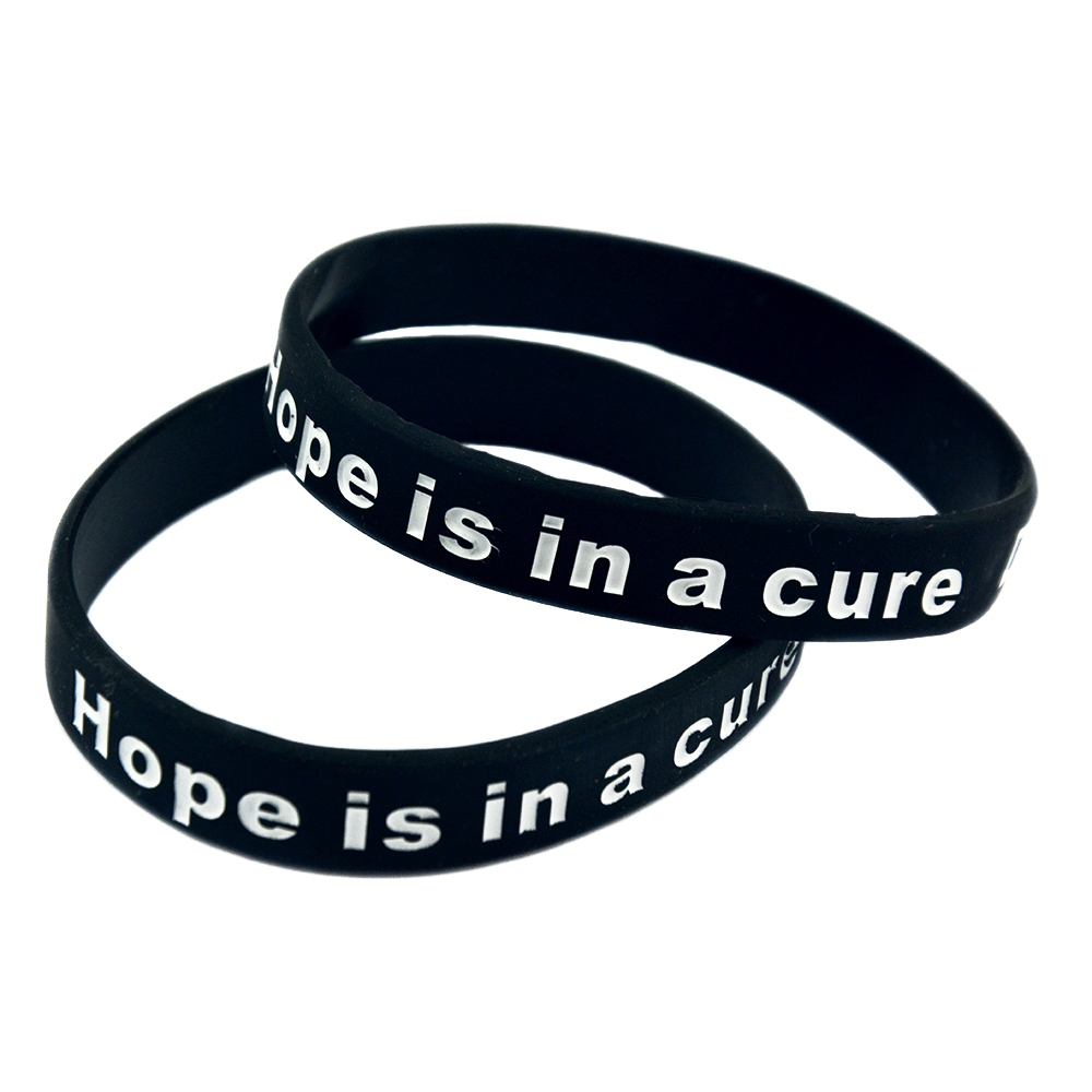 Onebandahouse 1pc Motivational Bracelet Hope Is In A Cure Diabetes Awareness Silicone Wristband Id Bracelets From Jewelry Accessories On