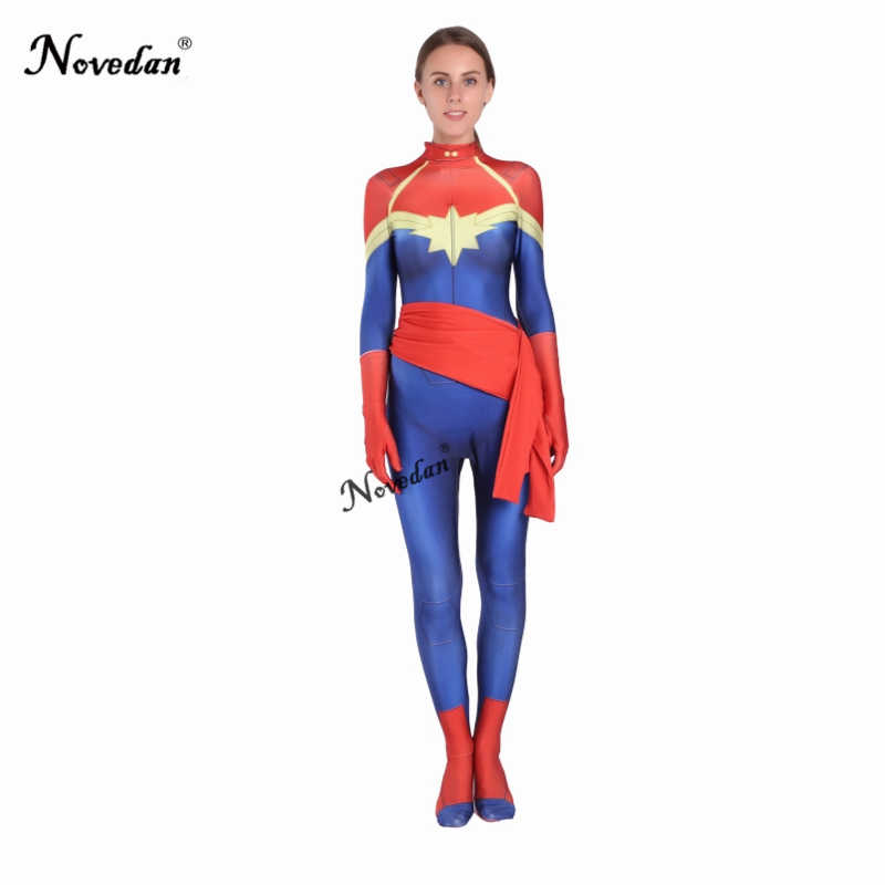 2c07b6a204d ... Avengers Infinity War Captain Marvel Costume Female Women Movie Cosplay  Bodysuit New 2018 Party Halloween Costumes ...