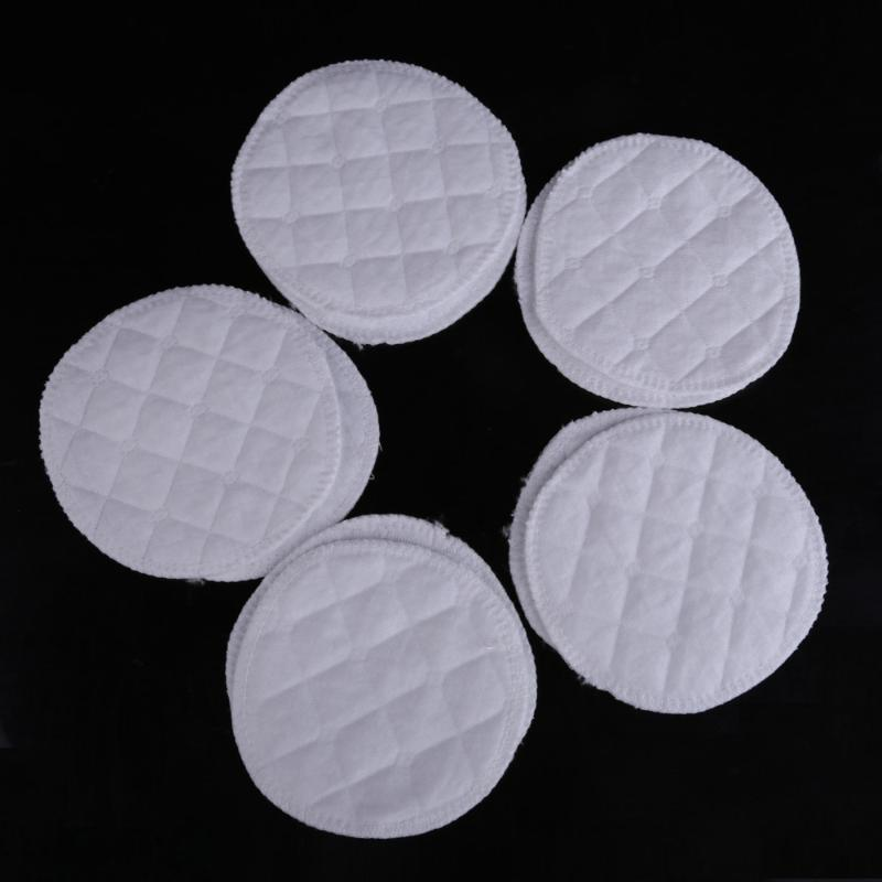 10 Pcs Reusable Cotton Nursing Pads Mommy Feeding Breast Pads Women Washable Chest Inserts Pad Feeding Breastfeeding Pad