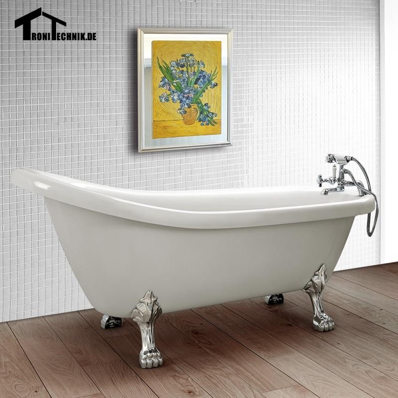 UK shipping Freestanding Traditional Bath Tub Slipper White 230 ...