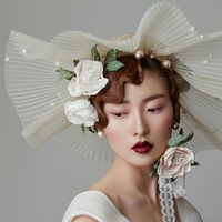 Xinyun Vintage Bride Chapeau Femme Mariage Pink Wedding Hats And Fascinators Wedding Hair Accessories Decoration Prom Dress Hat