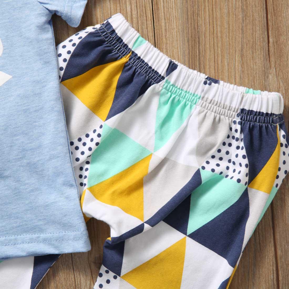 Summer 2017 Newborn Baby Boy Clothes Short Sleeve Cotton T