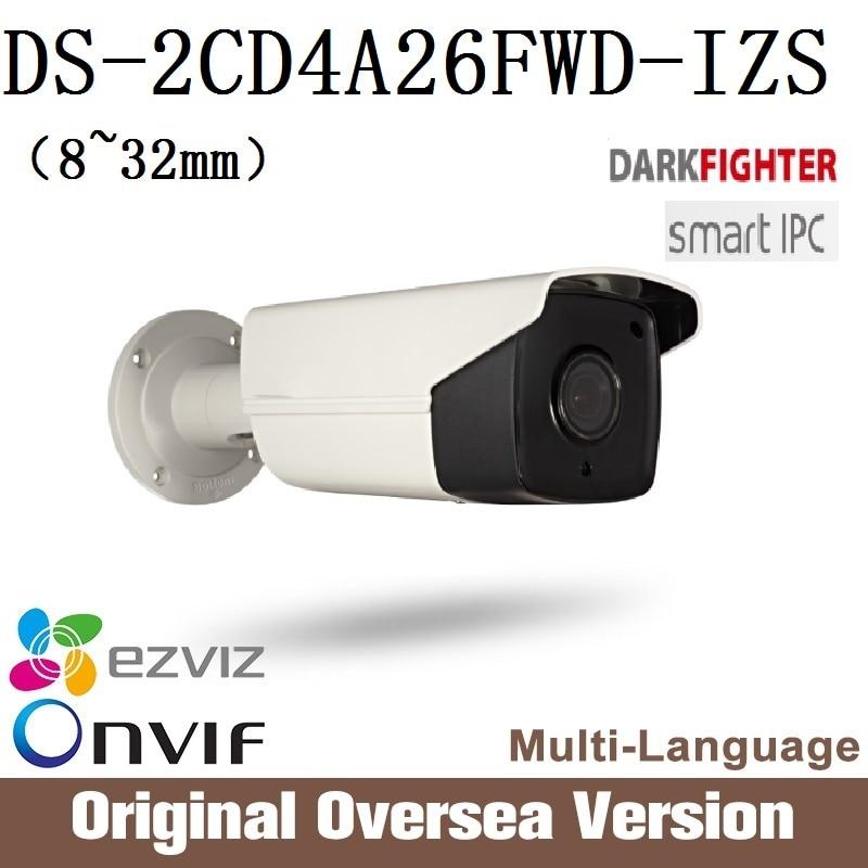 Hikvision DS-2CD4A26FWD-IZS 8-32mm Ip Cctv Camera 1080p Poe Ip67 smart IR English Version da hua WDR Onvif RJ45 darkfight uk hikvision ds 2cd4a25fwd iz 2mp smart ip camera cctv bullet 1080p poe ip67 ir english version h265 wdr onvif rj45 lightfighter