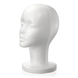 Hot Fashion Female White Foam Styrofoam Mannequin Hat Cap Dummy Wig Head display Holder Model