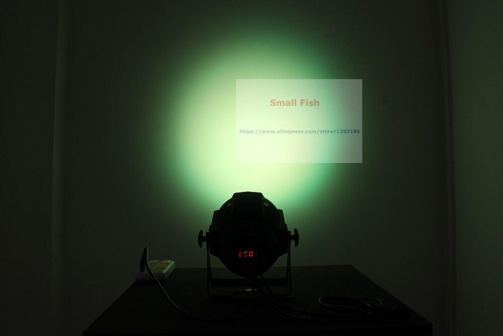 Купить с кэшбэком 2XLot LED Par Light 18X10W 4IN1 RGBW EU/US Plug 5/6/7/8/13CH LED Zoom Par Lights DMX Stage Effect Lighting Dj Disco Wash Lights