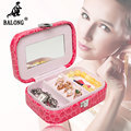 Portable PU Leather Jewelry Storage Box Fashion Jewelry Display Organizer Earrings Necklace Packing Box Jewellery Holder Gifts
