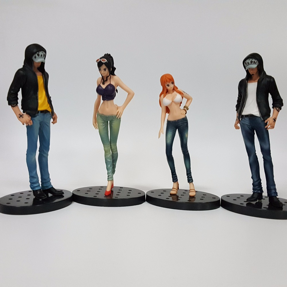 One Piece Action Figures Law Nami Robin Jeans Style Model 170mm PVC Toys One Piece Anime Japanese Anime Figure Toy