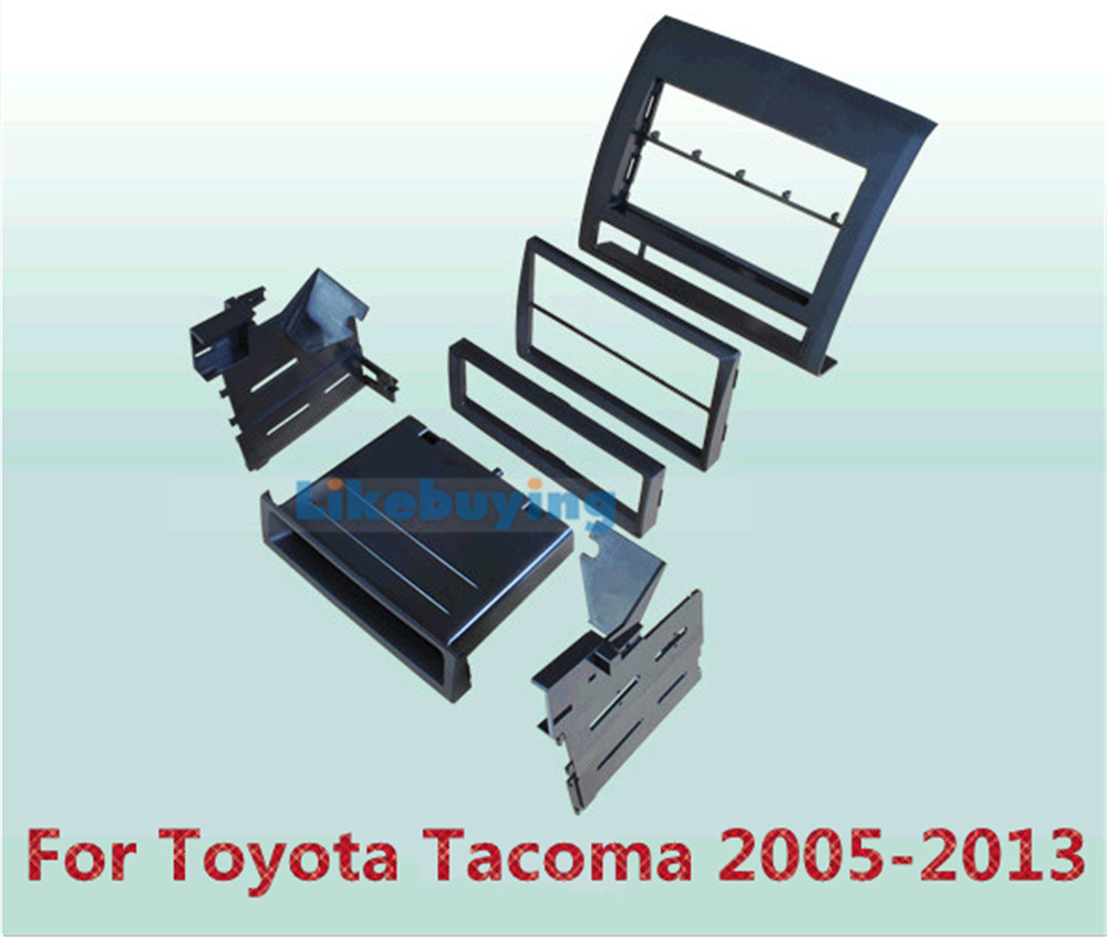 2 Din Car Frame Dash Kit / Car Fascias / Mount Bracket Panel For Toyota Tacoma 2005 2006  2007 2008 2009 2010 2011 2012 2013 free shipping car refitting dvd frame dash cd panel for buick excelle 2008 china facia install plate ca4034