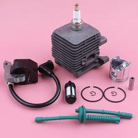34mm Cylinder Piston Ignition Coil Kit For Stihl FS55 FS45 FS38 Fuel Filter Line Spark Plug Grass Trimmer Tool Replace Part