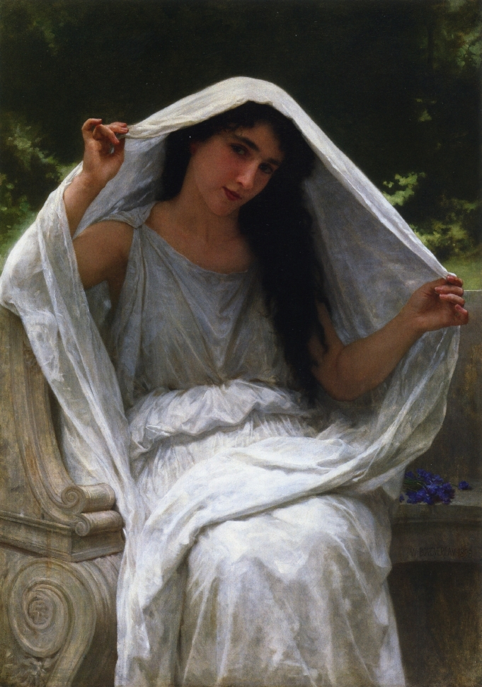 Handmade Oil painting reproduction The Veil by William Bouguereau
