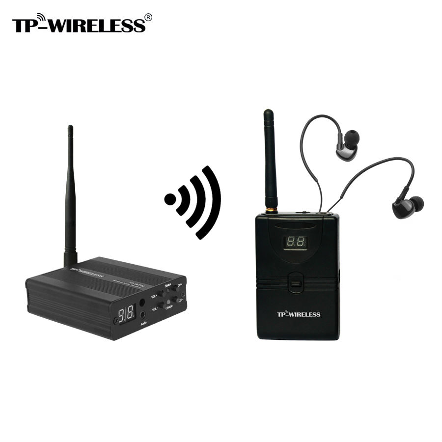 TP-WIRELESS  Wireless Recording studio Monitor System In-Ear stage Monitor Wireless Transmitter & Receiver Audio Monitor System ukingmei uk 2050 wireless in ear monitor system sr 2050 iem personal in ear stage monitoring 2 transmitter 2 receivers