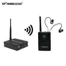 TP-WIRELESS Sistema de Monitor De estúdio de Gravação No Ouvido Monitor de palco Sem Fio Transmissor Sem Fio & Receptor Sistema De Monitoração De Áudio