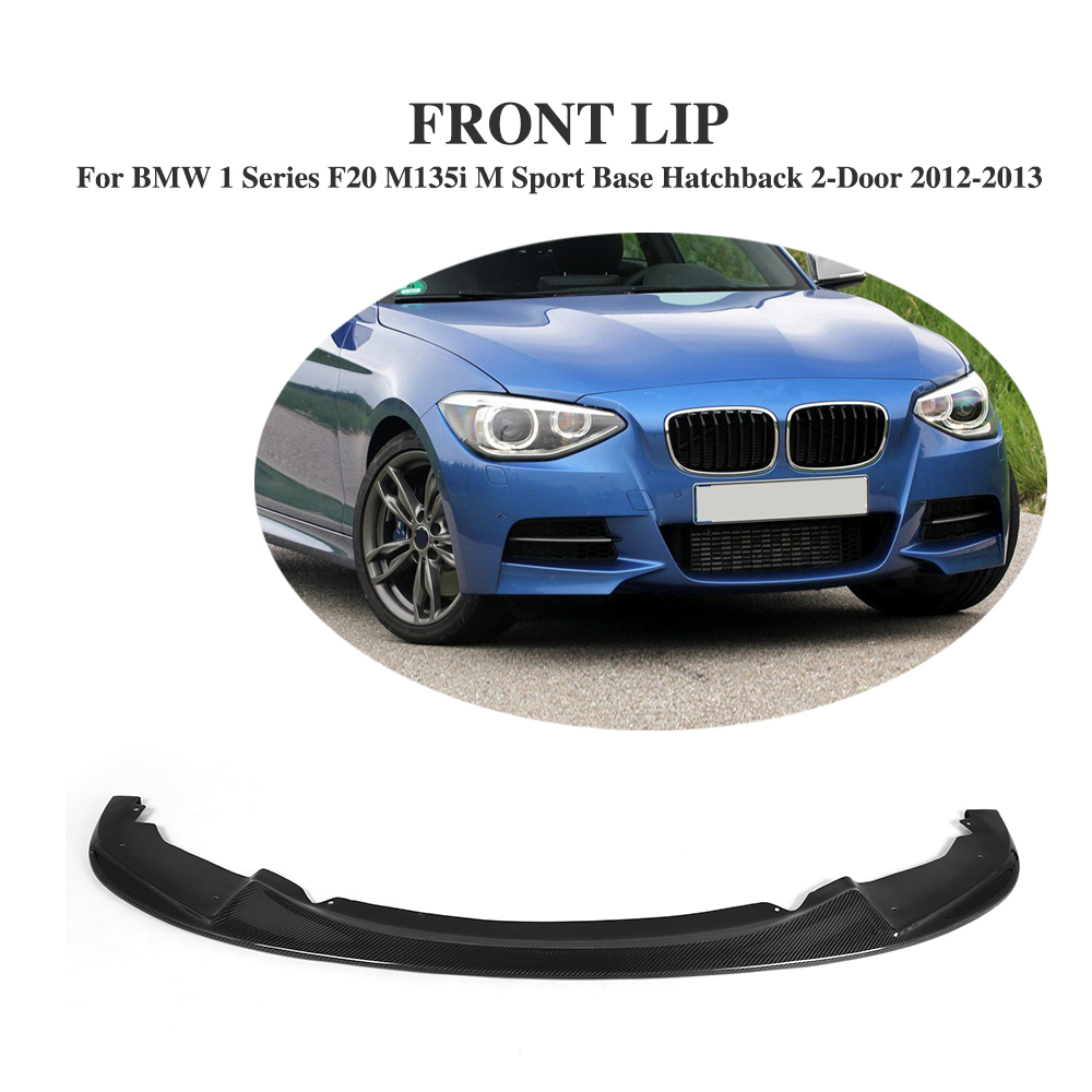 H styling carbon fiber front bumper lip spoiler for bmw 1 series f20 m135i m sport base hatchback 2 door 2012 2013