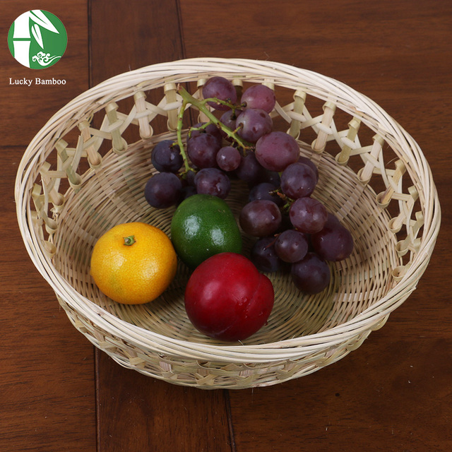 bamboo fruit basket handmade food holiday birthday gift baskets for storage chinese style woven vintage organizer
