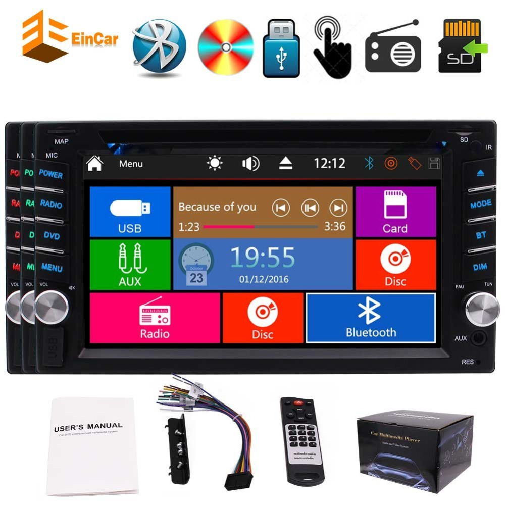 Eincar 6.2'' Car Stereo Double din In dash Auto Car dvd Radio Headunit Autoradio Bluetooth FM AM RDS Receiver Windows 8.0 System joyous j 2611mx 7 touch screen double din car dvd player w gps ipod bluetooth fm am radio rds