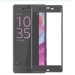 Image 2 - Pokrowiec na pełny ekran 3D szkło hartowane dla Xperia X Performance dla Sony Xperia XA folia ochronna w całości pokryta folią ochronną