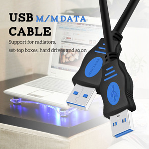 Image 2 - VOXLINK  USB to USB Extension Cable USB 2.0 Male to Male Extend Cable External hard drive cable Adapter For Radiator Hard Disk