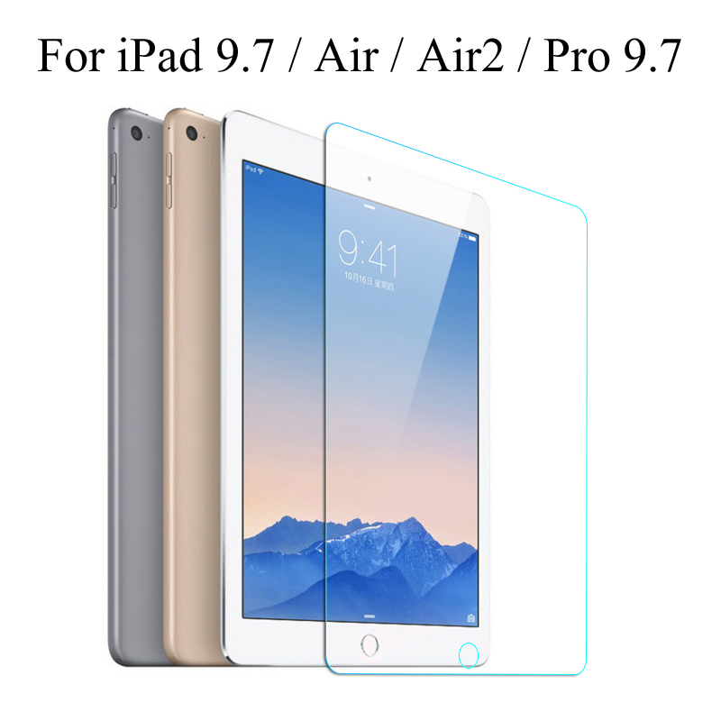 Tempered Glass Membrane For Apple IPad 9.7 2017 2018 Steel Film Tablet Screen Protection Toughened For IPad 5 / 6 / Air / Air 2