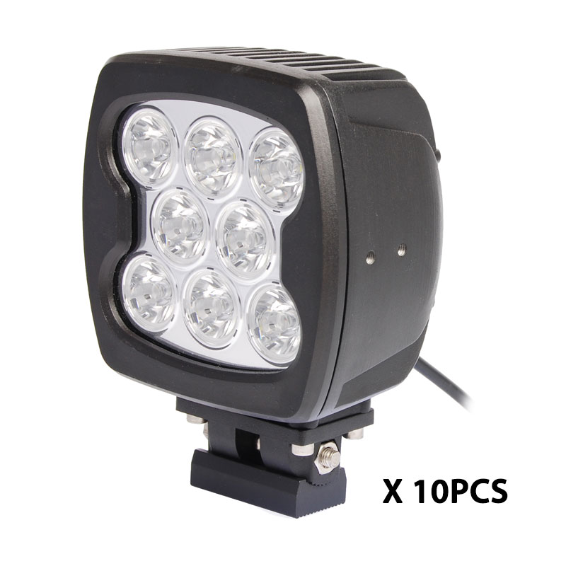 10pcs 80W led work light super brighter 7000lm 4x4 offorad led driving headlight for heavy duty truck ATV SUV DRL spotllight